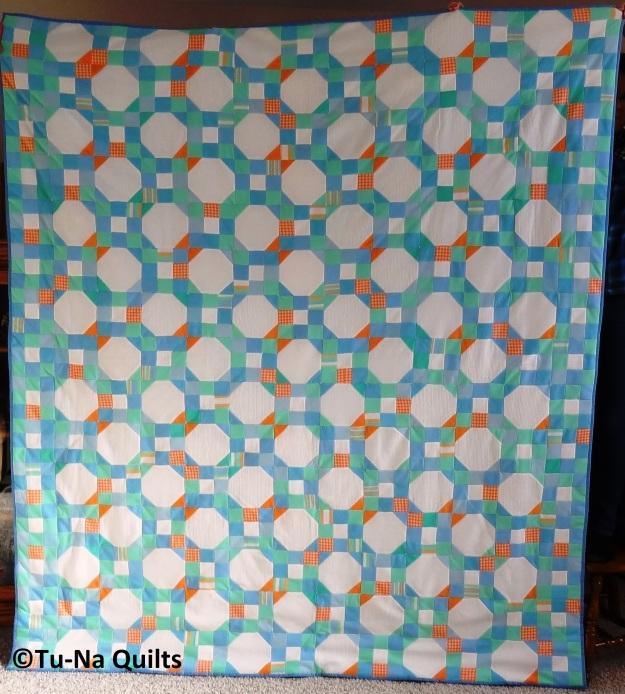 Snowball quilt finish 1a