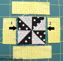 Sew seam 1 first.